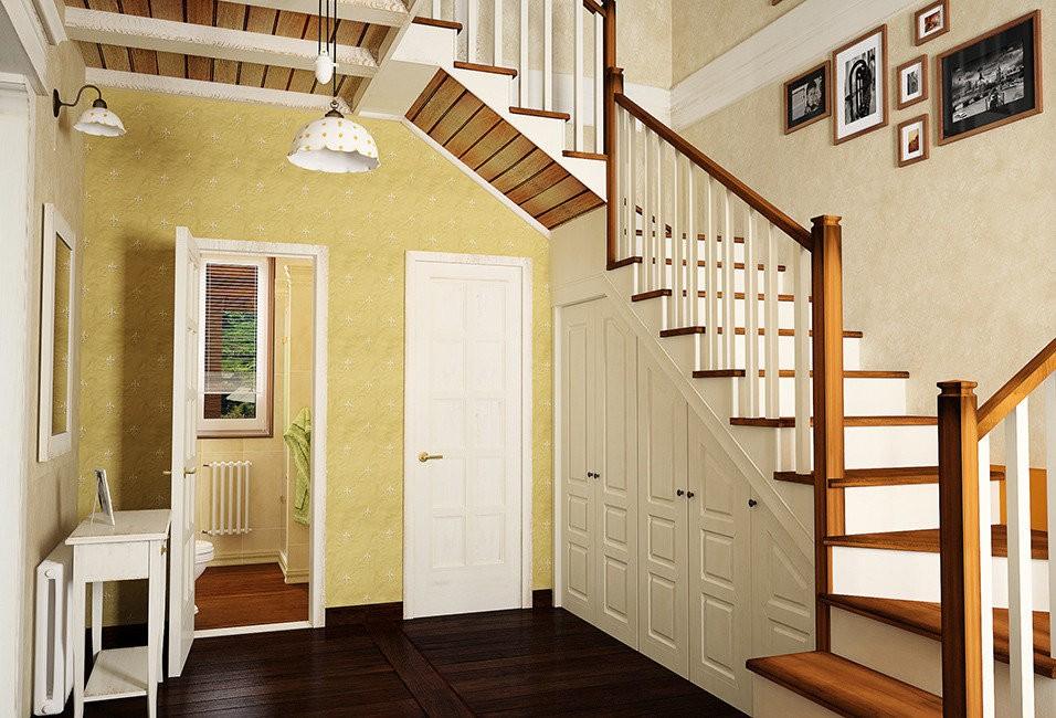 гардеробная под лестницей интерьер