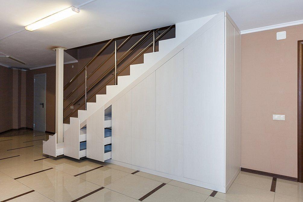 гардеробная под лестницей дизайн идеи