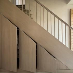 гардеробная под лестницей идеи