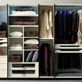 гардеробная в спальне декор
