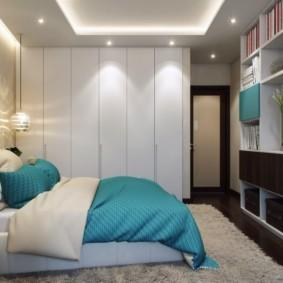 гардеробная в спальне интерьер