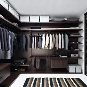 гардеробная в спальне фото интерьера