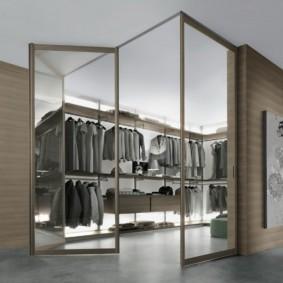 гардеробная в спальне виды дизайна