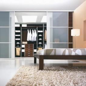 гардеробная в спальне виды интерьера