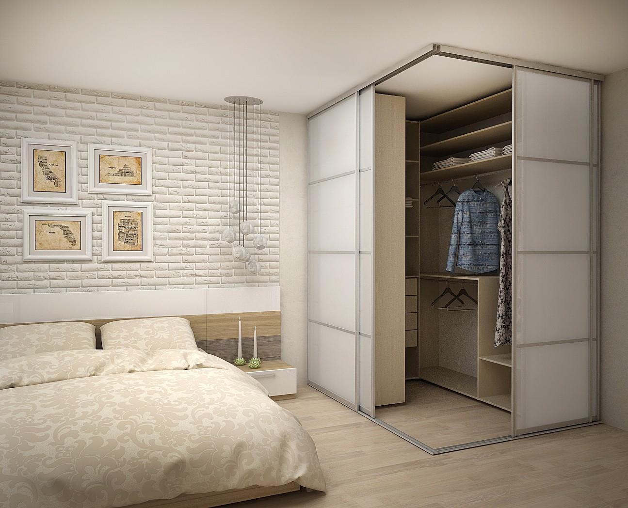 гардеробная в спальне фото