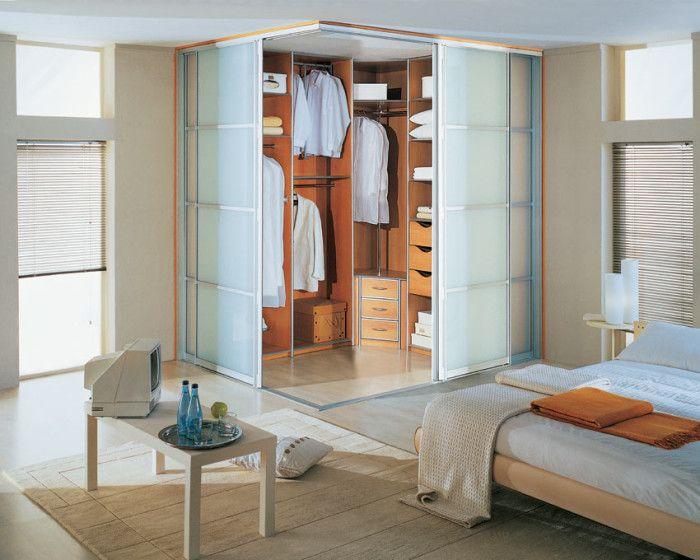гардеробная в спальне варианты декора