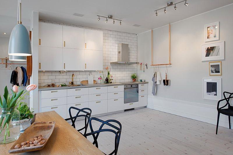 Подбор кухонного гарнитура в тон стен
