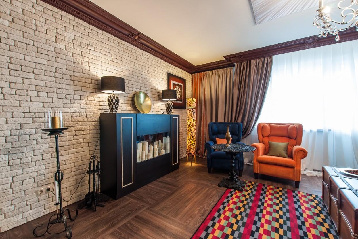 отделка квартиры под декоративный кирпич гипсовая плитка