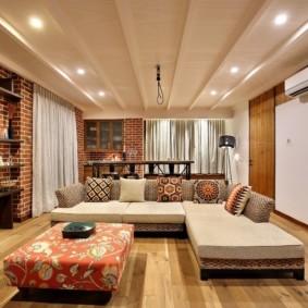 гостиная 19 кв метров фото декора