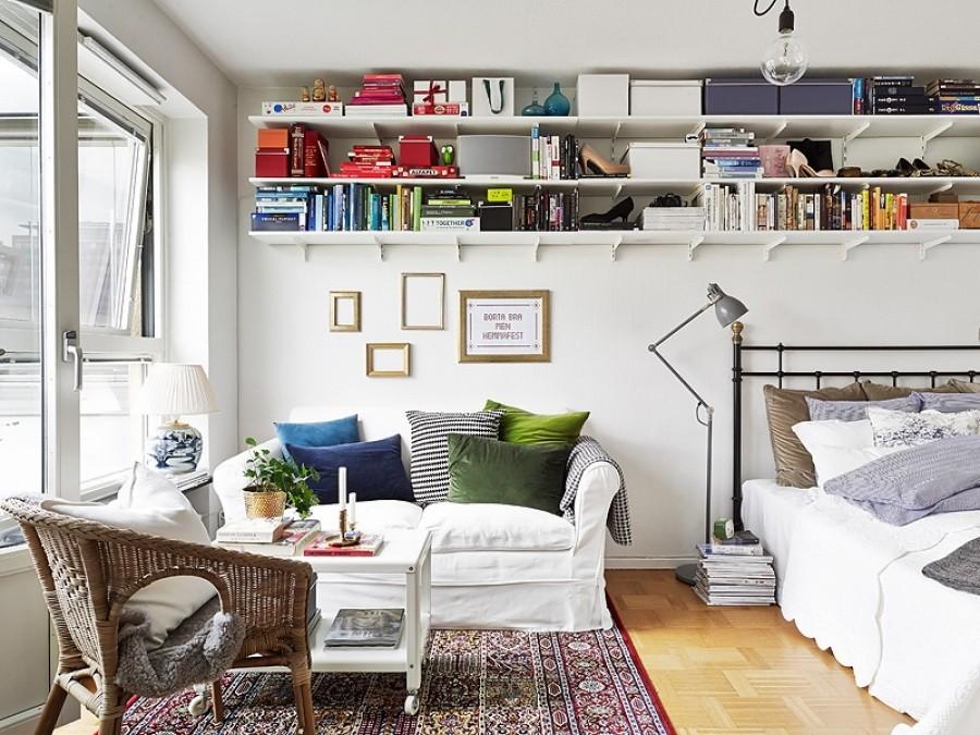 гостиная и спальня в одной комнате дизайн идеи