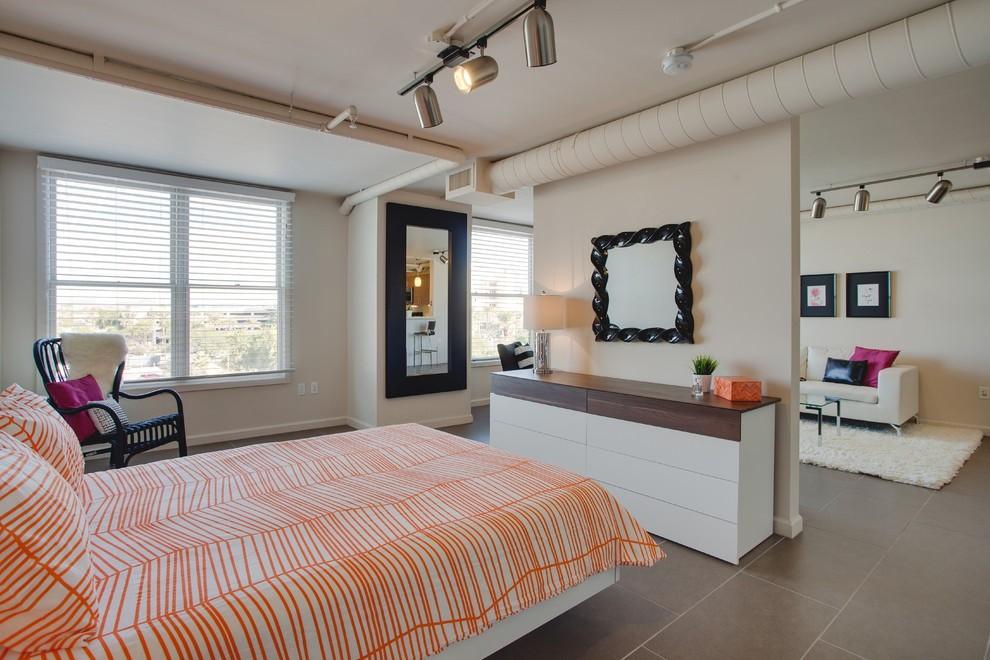 гостиная и спальня в одной комнате фото декор