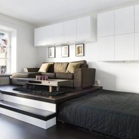 гостиная и спальня в одной комнате идеи обзор