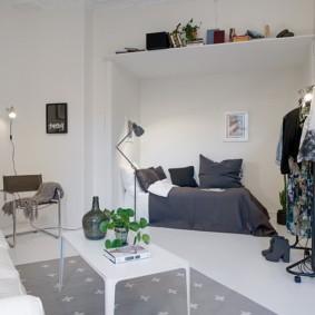 гостиная и спальня в одной комнате идеи оформления