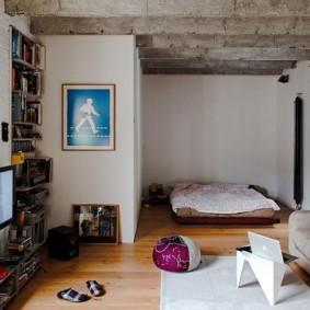 гостиная и спальня в одной комнате идеи видов