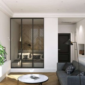 гостиная и спальня в одной комнате обзор идеи