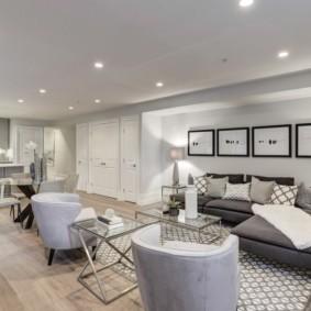 гостиная в стиле модерн идеи дизайн