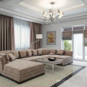гостиная в стиле модерн виды дизайна