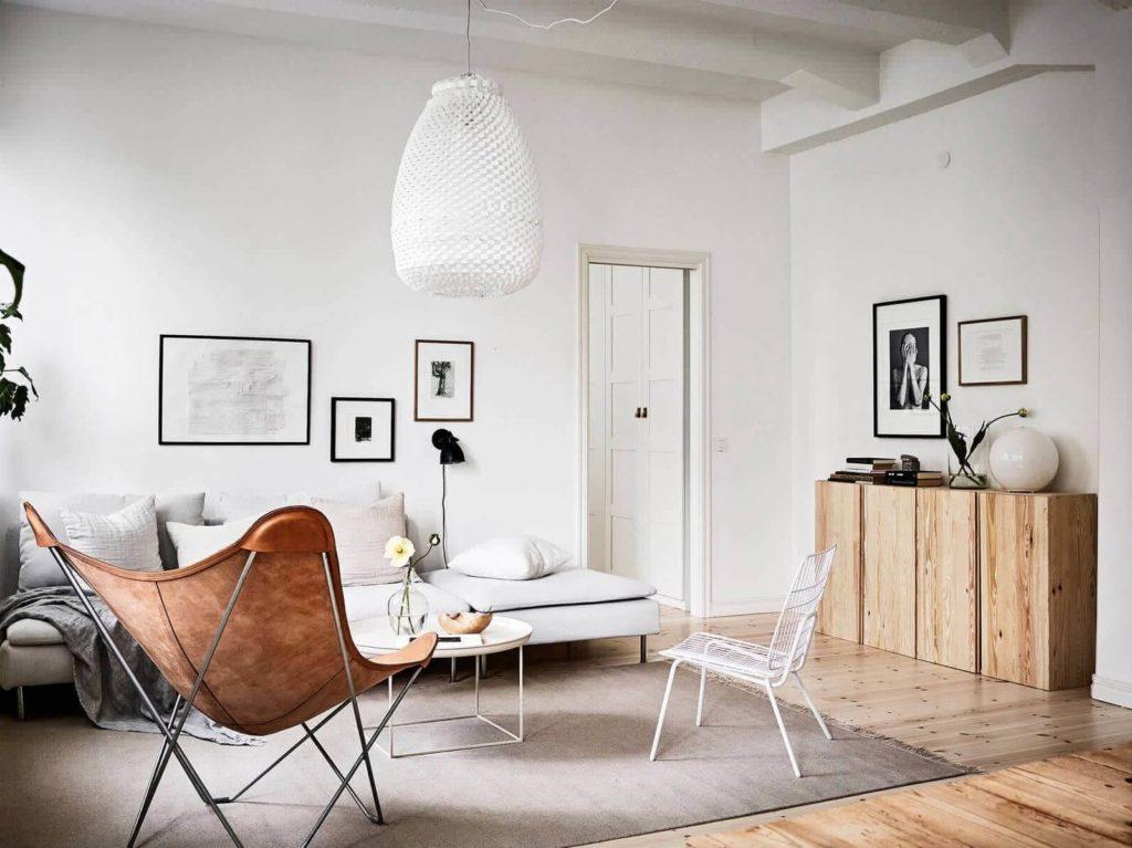 гостиная в скандинавском стиле декор фото