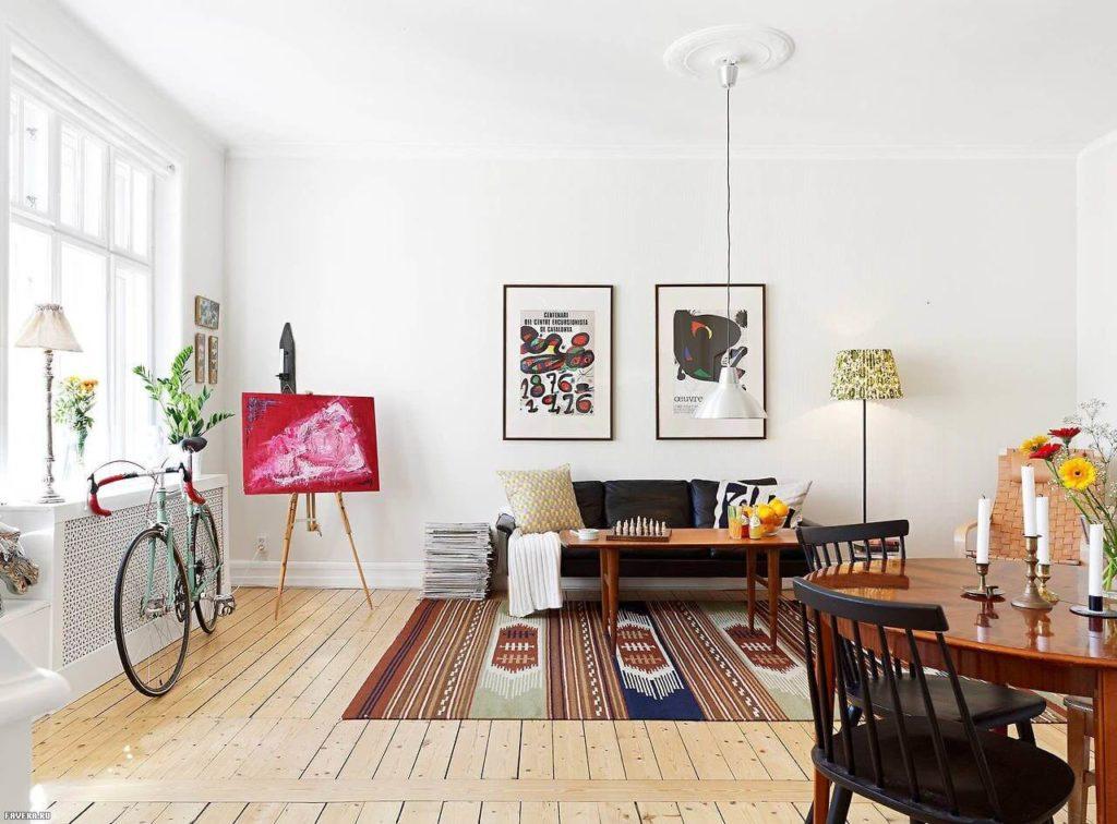 гостиная в скандинавском стиле дизайн фото