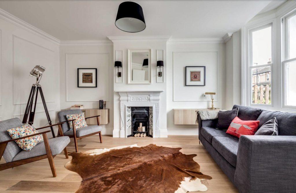 гостиная в скандинавском стиле фото декор