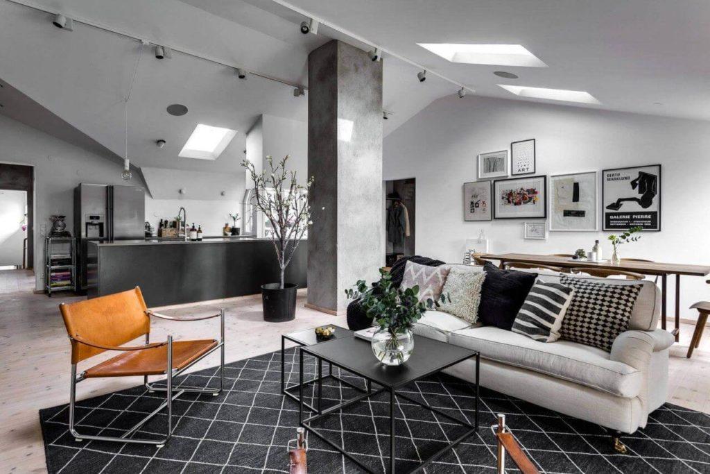 гостиная в скандинавском стиле фото дизайна