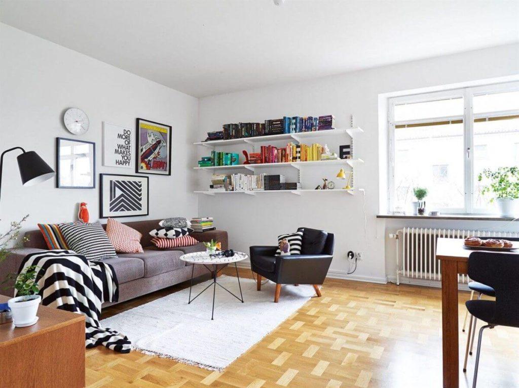 гостиная в скандинавском стиле фото интерьер