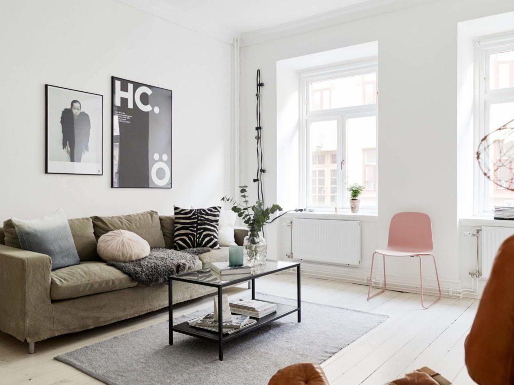 гостиная в скандинавском стиле идеи декор