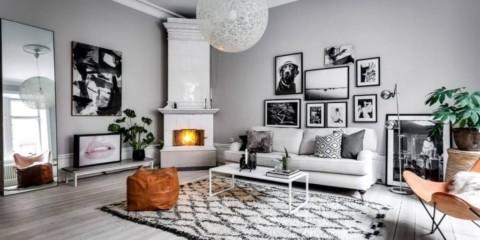 гостиная в скандинавском стиле идеи дизайн