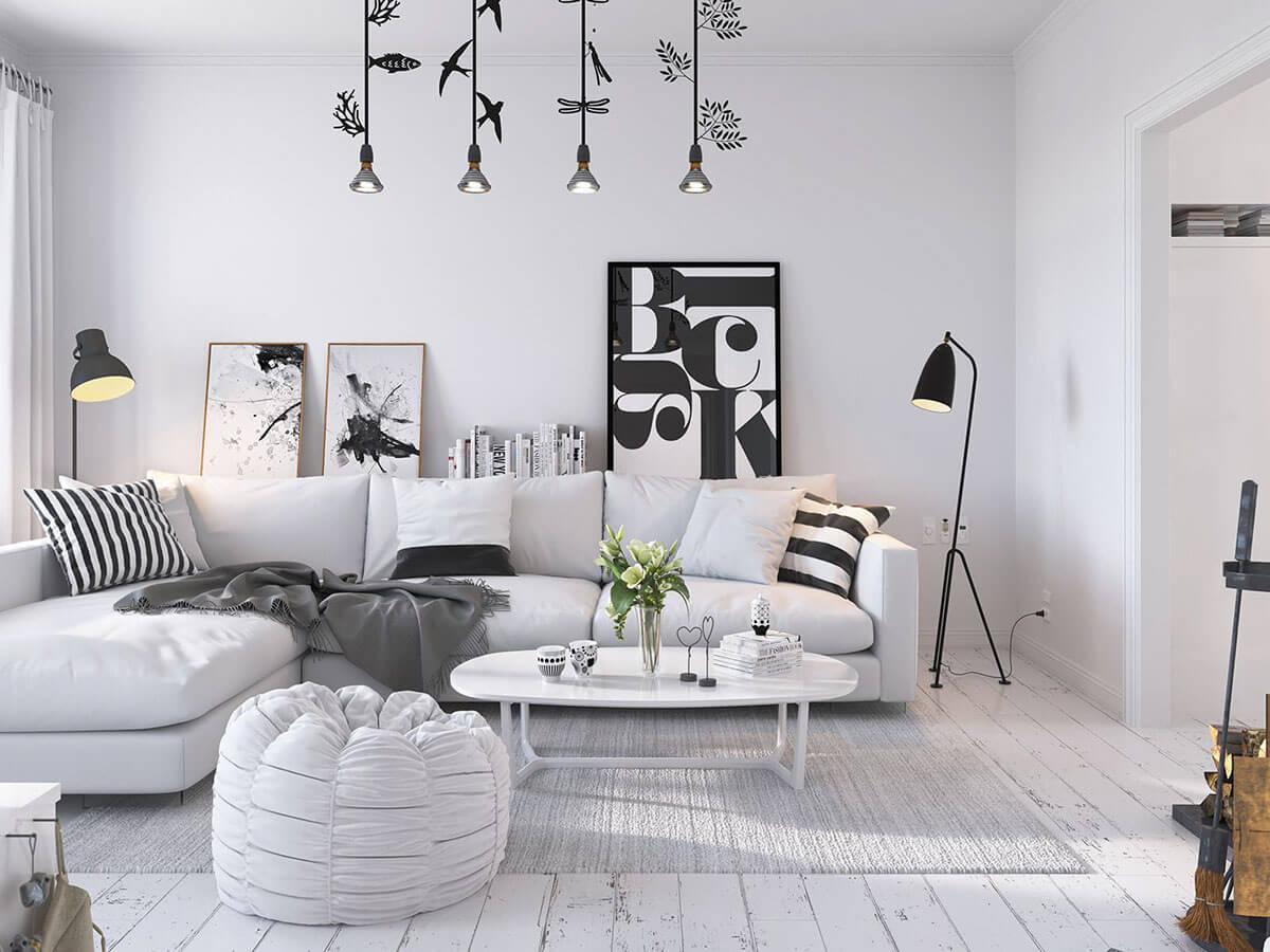 гостиная в скандинавском стиле идеи интерьер