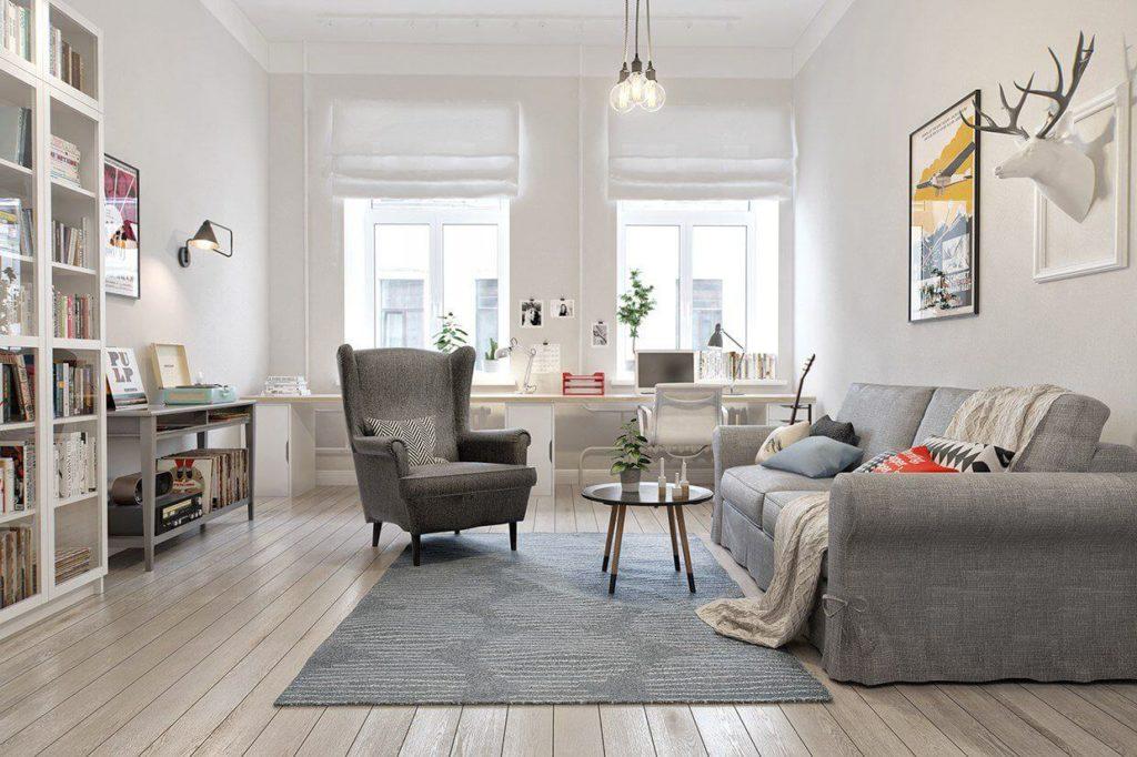 гостиная в скандинавском стиле идеи