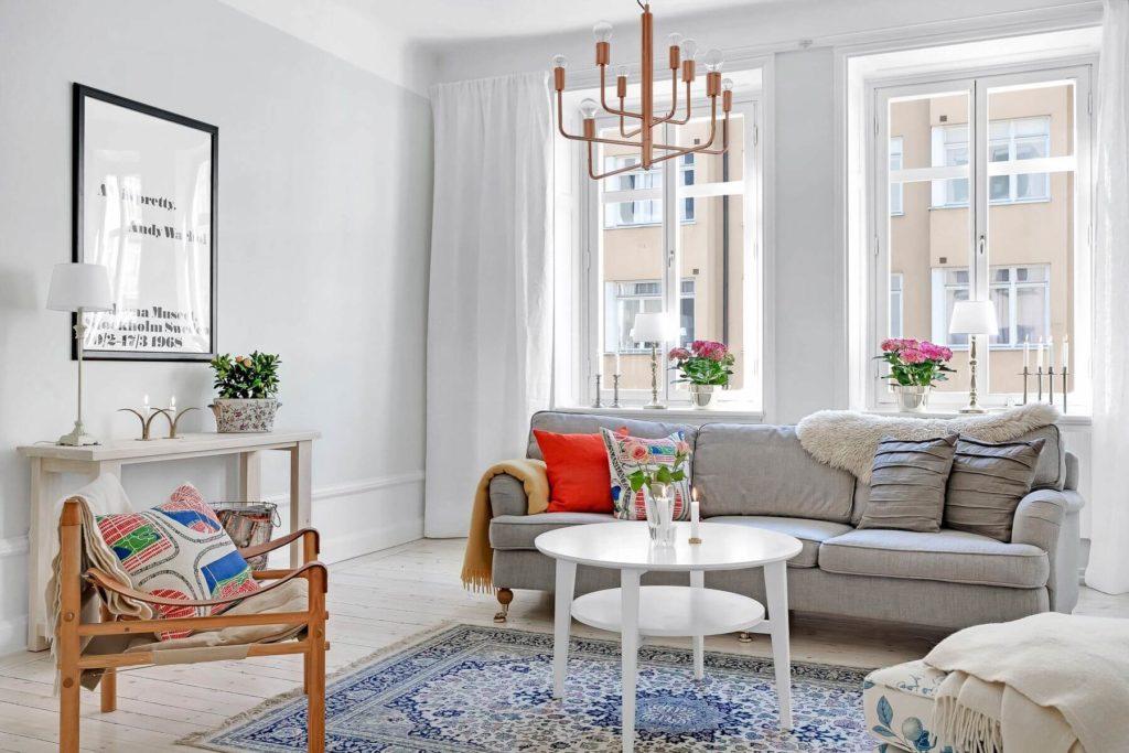 гостиная в скандинавском стиле интерьер фото