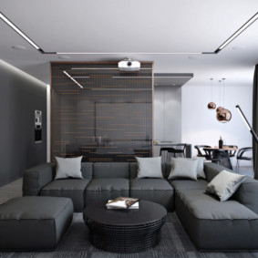 гостиная в стиле хай тек идеи дизайн