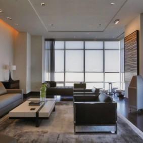 гостиная в стиле хай тек идеи дизайна