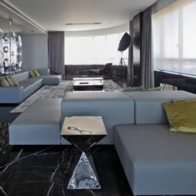 гостиная в стиле хай тек интерьер идеи