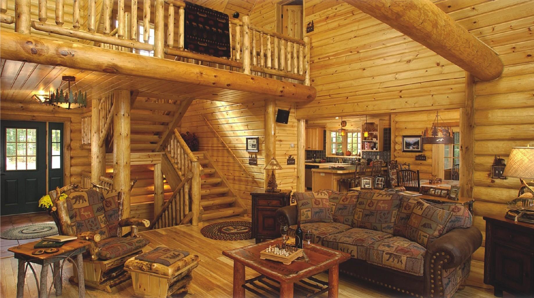 гостиная в стиле кантри декор фото
