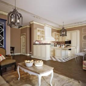 гостиная в стиле кантри фото интерьера
