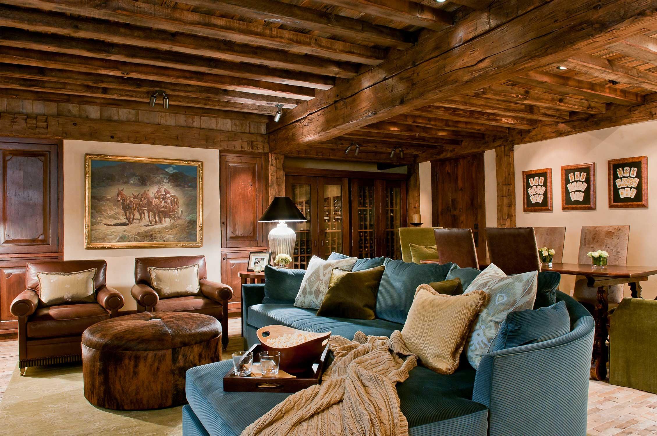 гостиная в стиле кантри фото