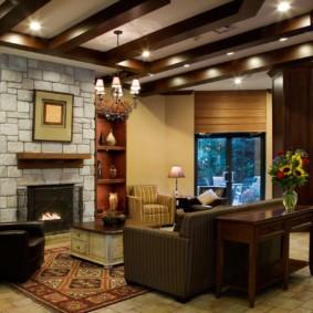гостиная в стиле кантри идеи дизайна