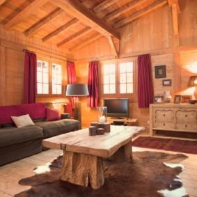 гостиная в стиле кантри идеи интерьер