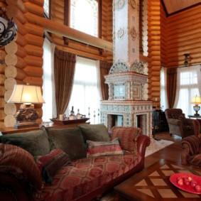 гостиная в стиле кантри интерьер идеи