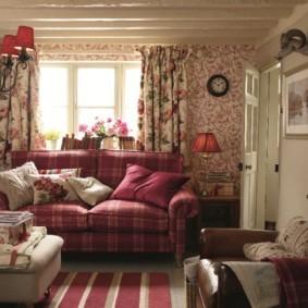 гостиная в стиле кантри оформление фото