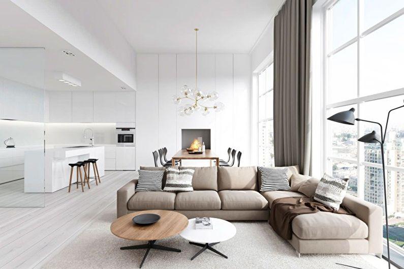 гостиная в стиле минимализм фото дизайна