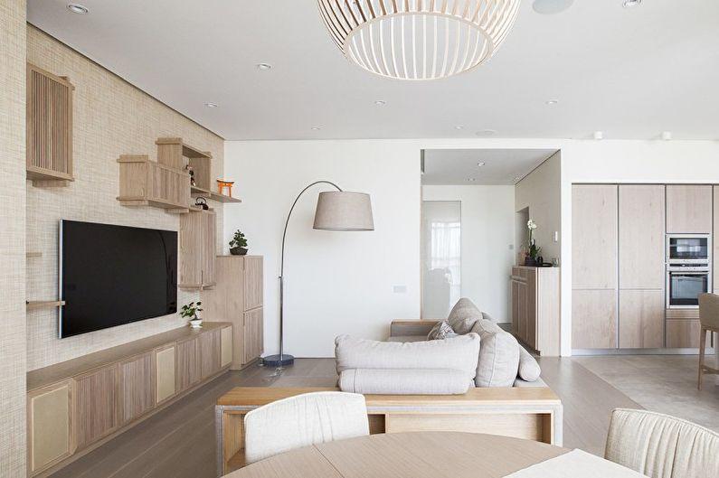 гостиная в стиле минимализм идеи интерьер