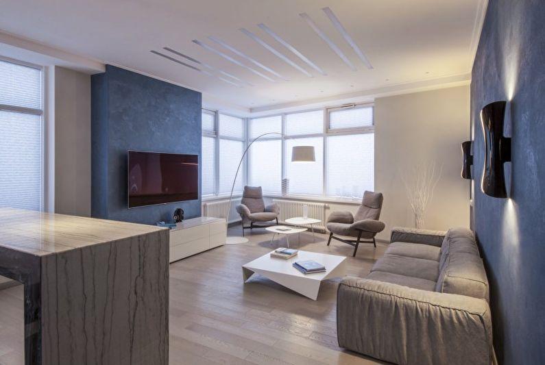 гостиная в стиле минимализм идеи интерьера