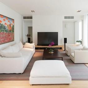 гостиная в стиле минимализм виды интерьера