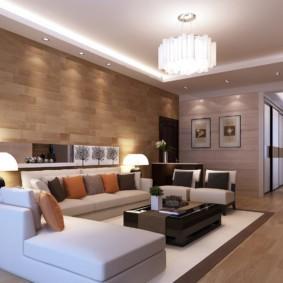 гостиная в стиле модерн декор