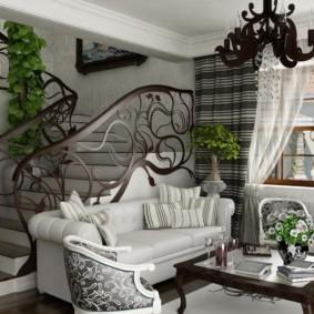 гостиная в стиле модерн декор фото