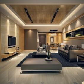 гостиная в стиле модерн дизайн фото