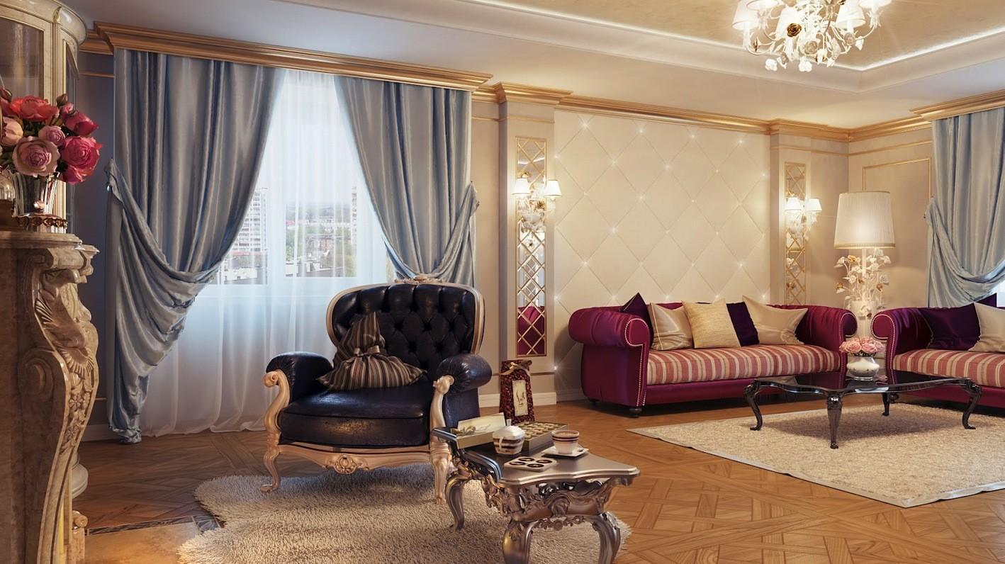 гостиная в стиле модерн дизайн