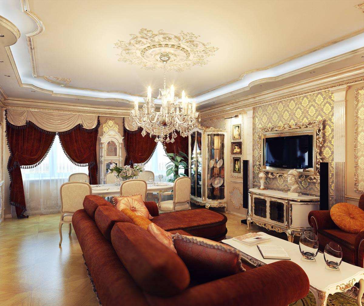 гостиная в стиле модерн фото оформление